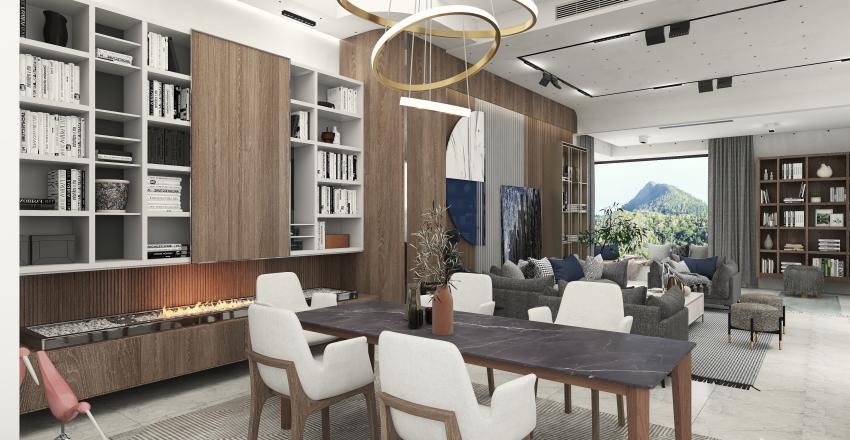 French Riviera Interior Design Render