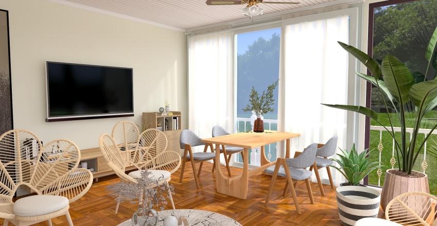 interior terrace Interior Design Render