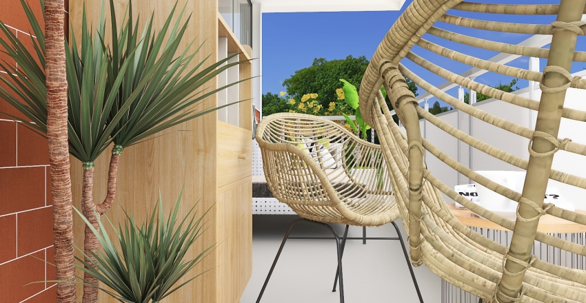 Balcony Interior Design Render