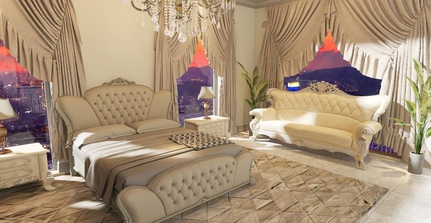 Timeless bedroom Interior Design Render