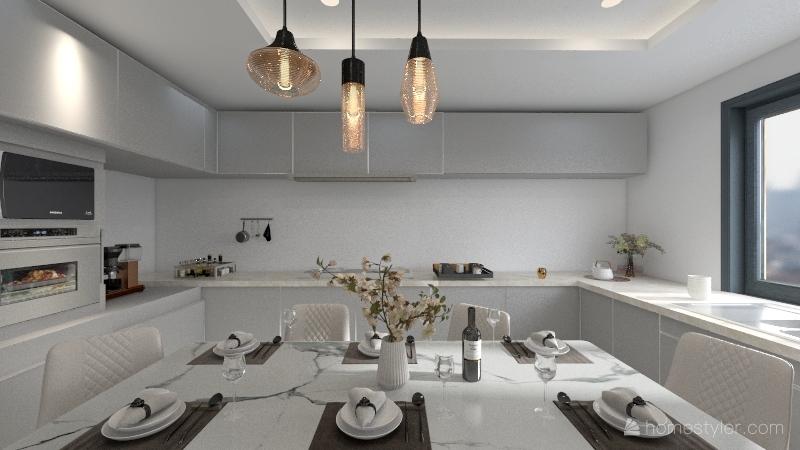 Copy of U KITCHEN OPEN Interior Design Render