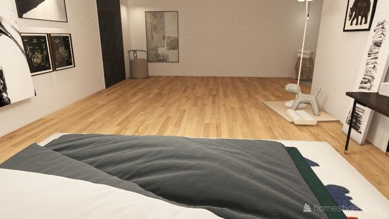 minimalism bedroom Interior Design Render