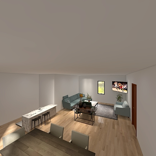 No wall Interior Design Render