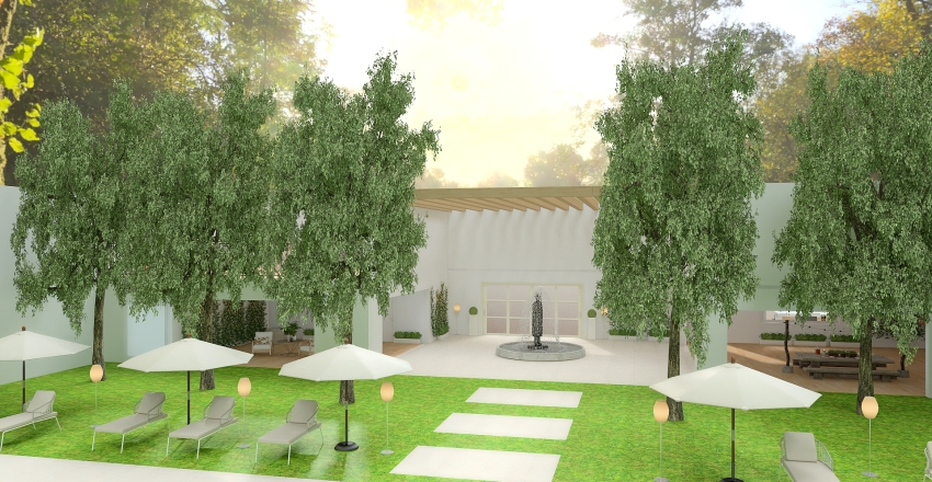 Air B&B Malinalco Interior Design Render