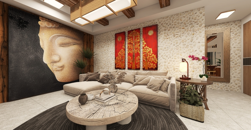 Balay De Toril Resort Villa Interior Design Render