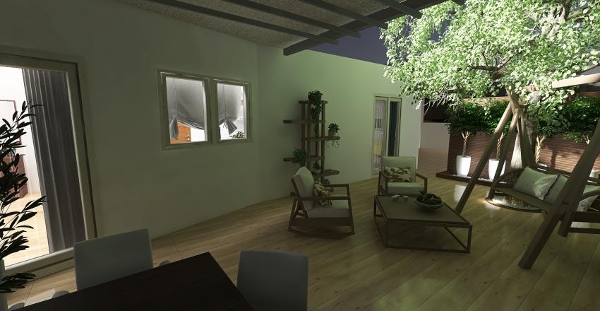 vima _APARTMENT RENOVATION & YARD_ATHENS (II) Interior Design Render