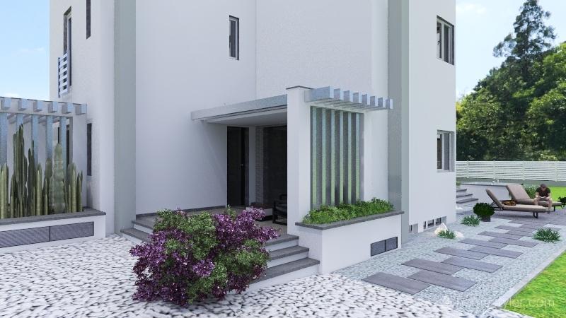 Casa tettoia ingresso piena Interior Design Render
