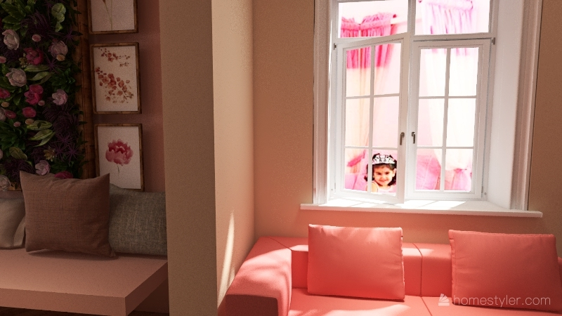 Casa de muñecas Interior Design Render