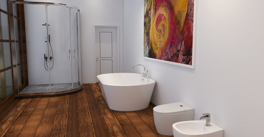Meditation Home Interior Design Render