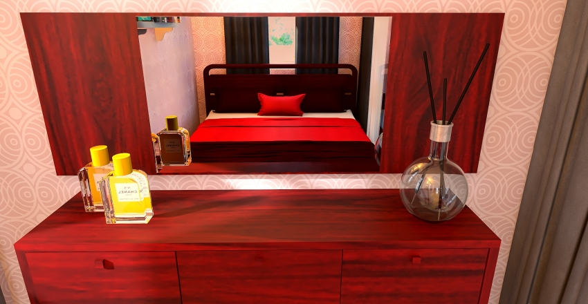 Red Container home Interior Design Render
