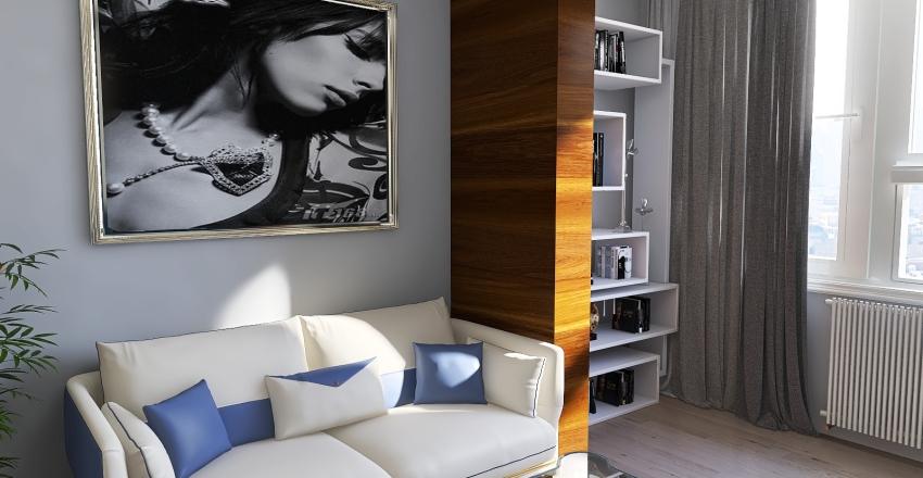 Small Apartament in Sao Paulo, Brazil Interior Design Render