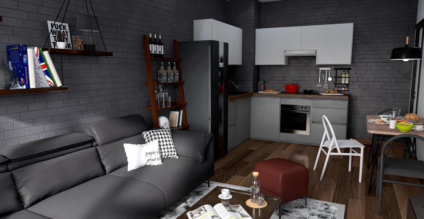 APARTMENT 60m2 Interior Design Render