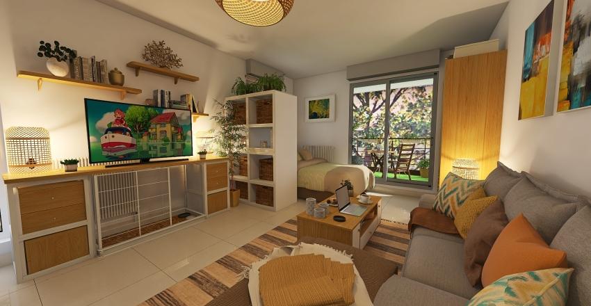 Elise's studio apartment Interior Design Render