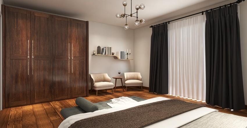 Earthy Tones Apt Interior Design Render