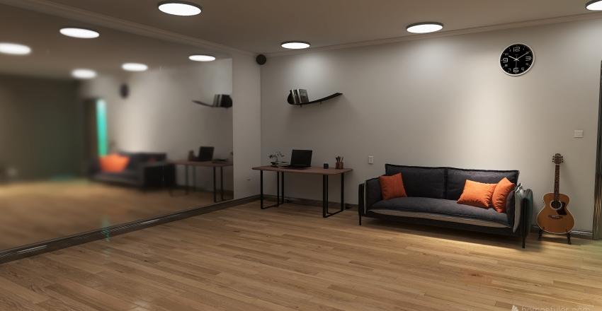 ice girls dance studio Interior Design Render