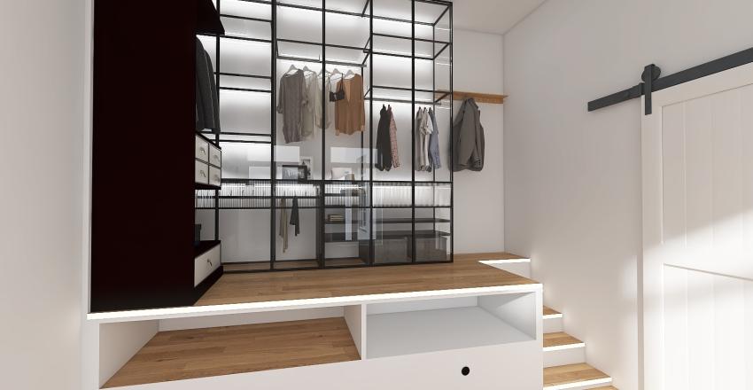ESPACE INTERIEURE CUISINE OUVERTE SUR SEJOUR Interior Design Render