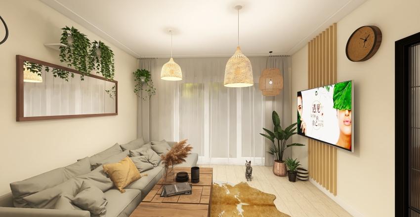łazienka szara podłoga Interior Design Render