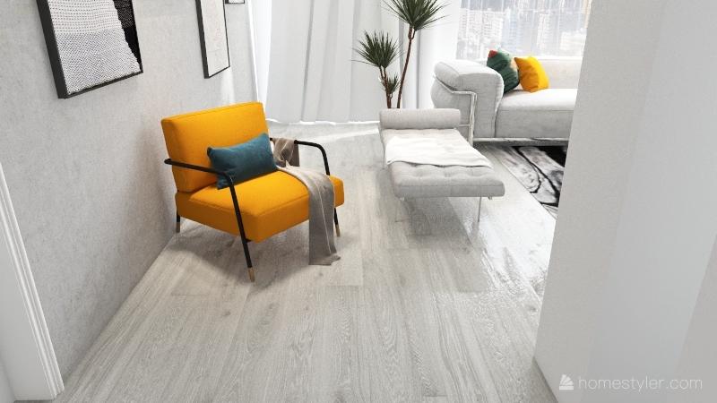Small modern home Interior Design Render