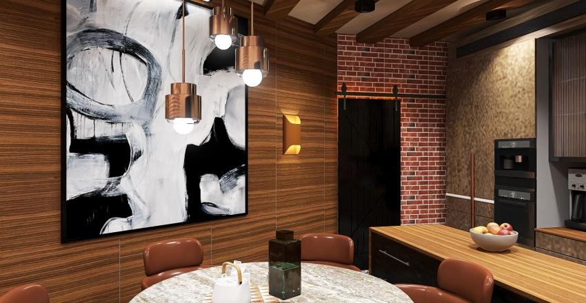 Кухня столовая (офис) Interior Design Render