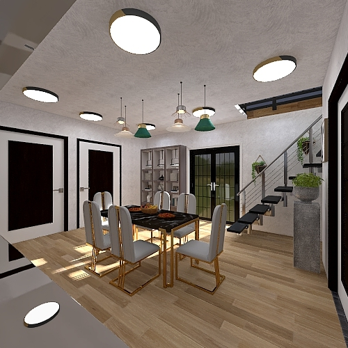 Eco Village Cabin Interior Design Render