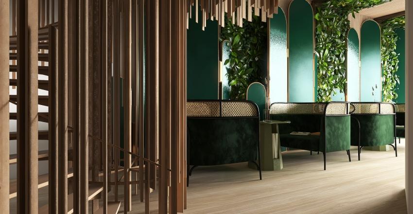 Doğa's Cafe Interior Design Render