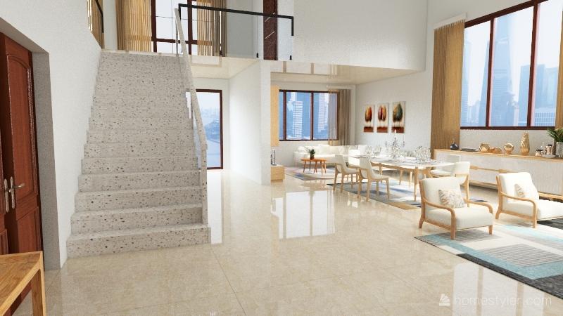 casa neutra Interior Design Render