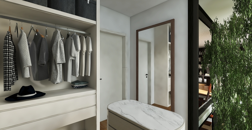 Appartamento immerso nella Natura Interior Design Render