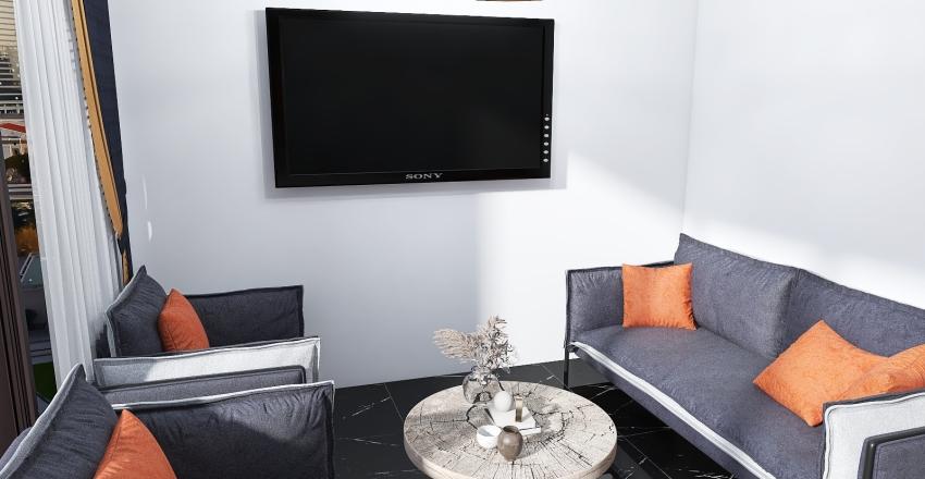Macharel Hotel Master Bedroom Interior Design Render