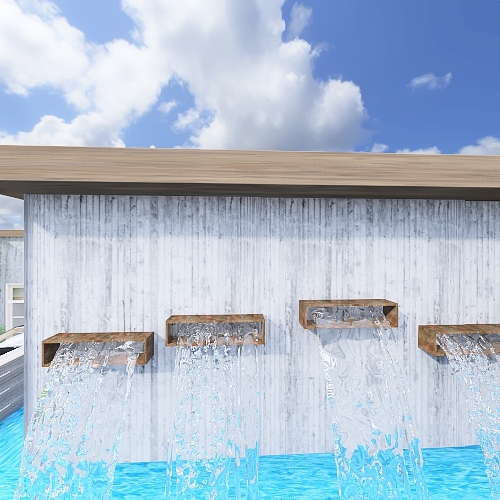 Luxurious modern home in the hills Interior Design Render