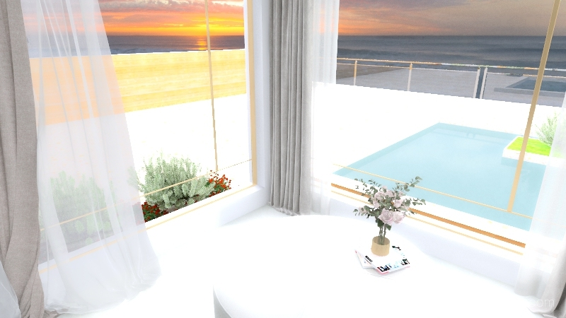 House by the beach Interior Design Render