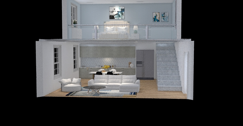 ESTILO LOFT Interior Design Render