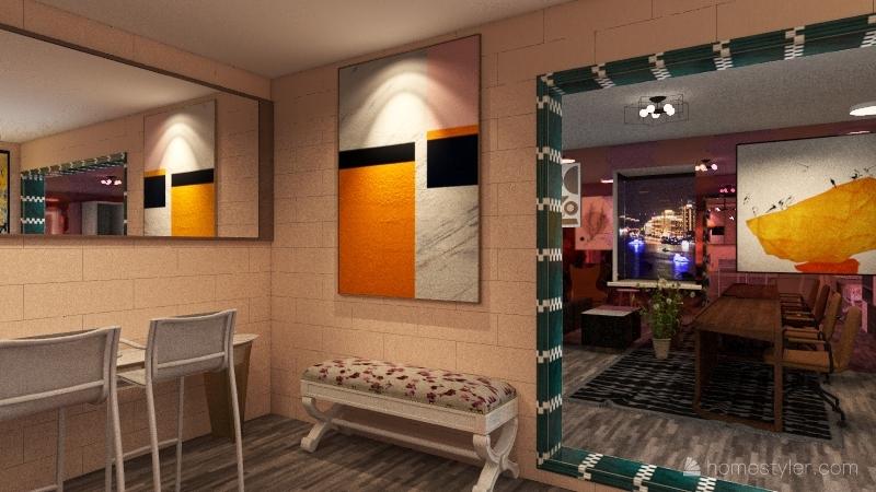 Amazing Hair Salon Interior Design Render