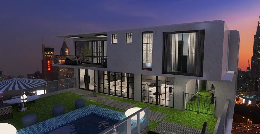 City Roof House Interior Design Render