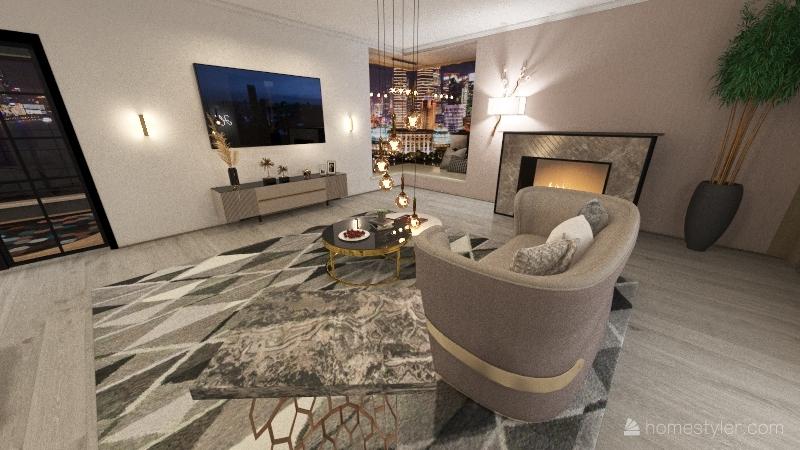 Apartamento na cidade Interior Design Render