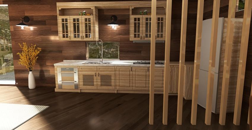 Penta Wooden House Interior Design Render