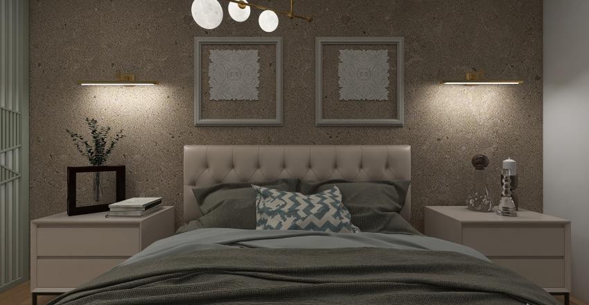 AirBnB mini apartments. Interior Design Render