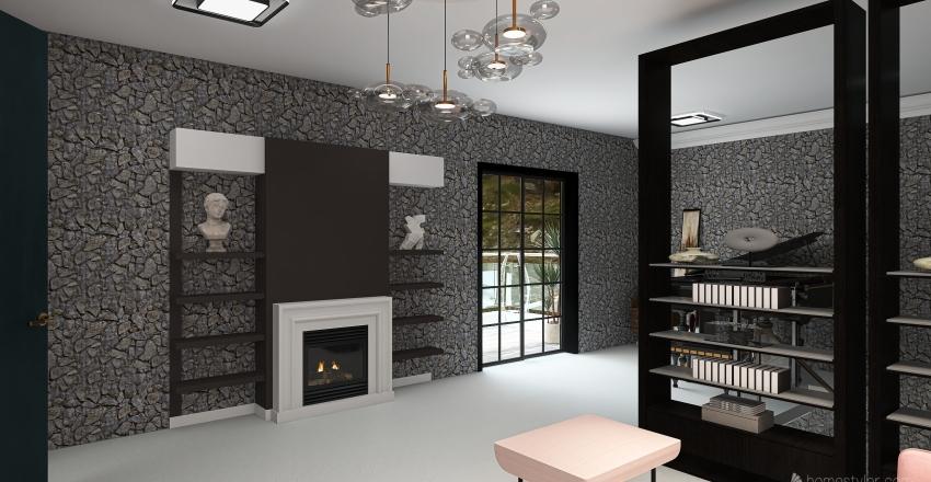mountain house Interior Design Render