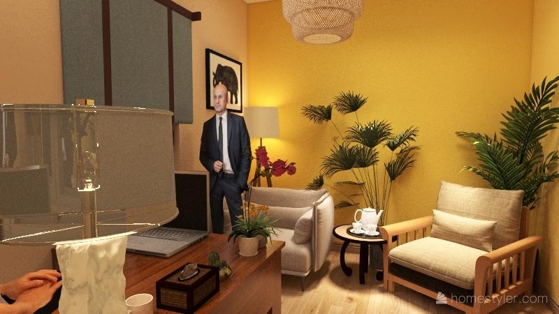 bureau chez soi pour profession libérale Interior Design Render