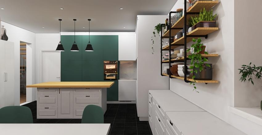 Cement House in Central California Interior Design Render
