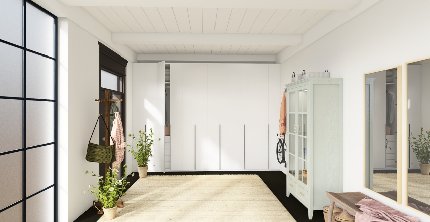 Apartment bedroom Interior Design Render