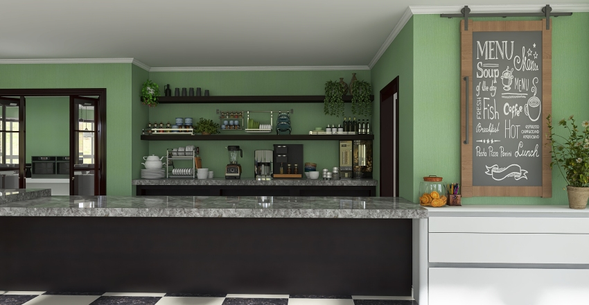 Scene_Cafe Interior Design Render