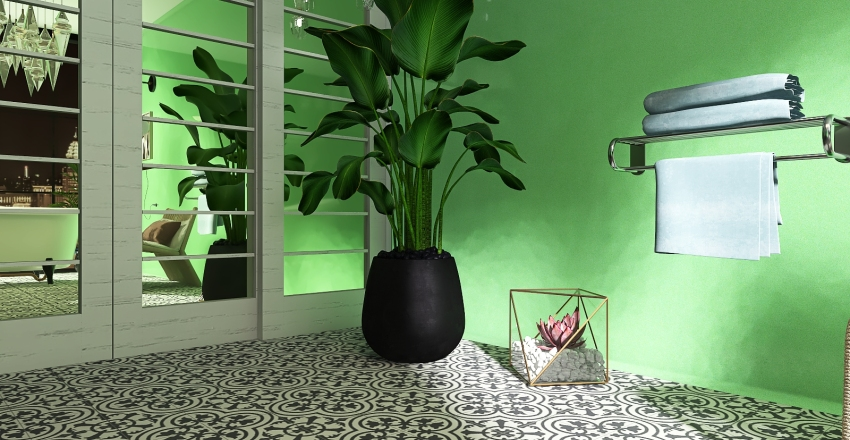 Łazienka. Interior Design Render