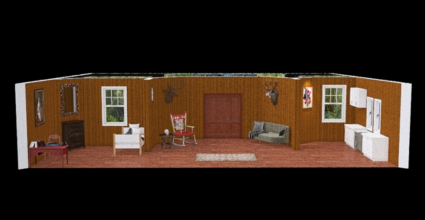 Dr Jay Evil Dead House Interior Design Render