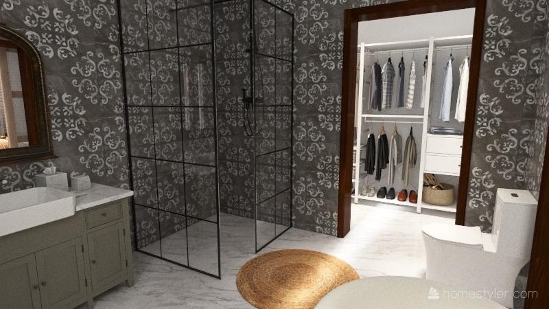 1 story farmhouse Interior Design Render