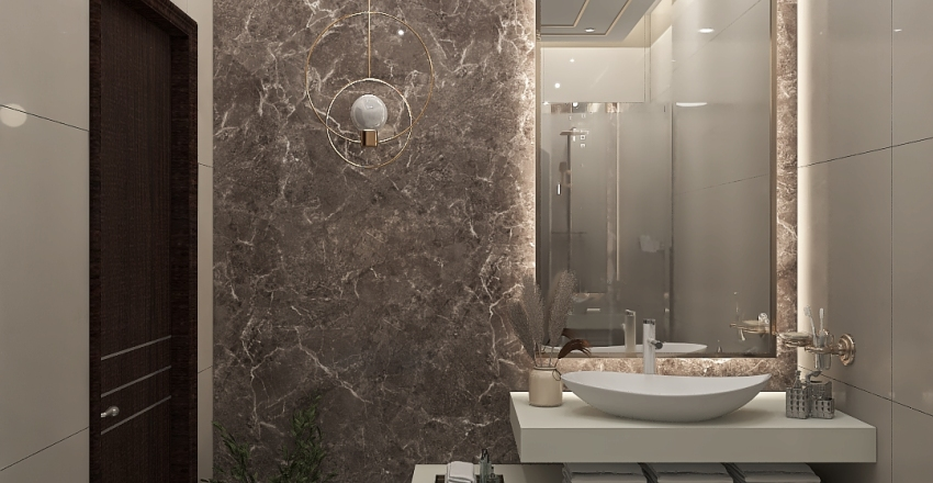 MASTER WC-VILLA GADA Interior Design Render