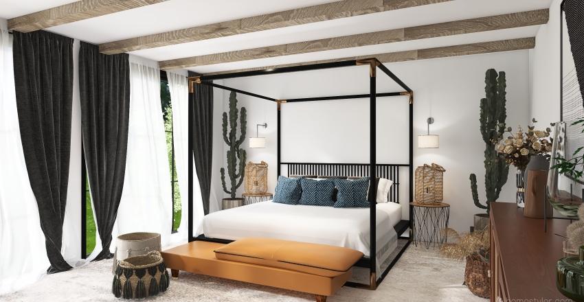 Green Farmhouse  Interior Design Render