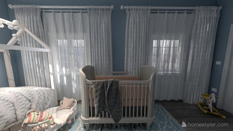 Modern NYC Brownstone Interior Design Render
