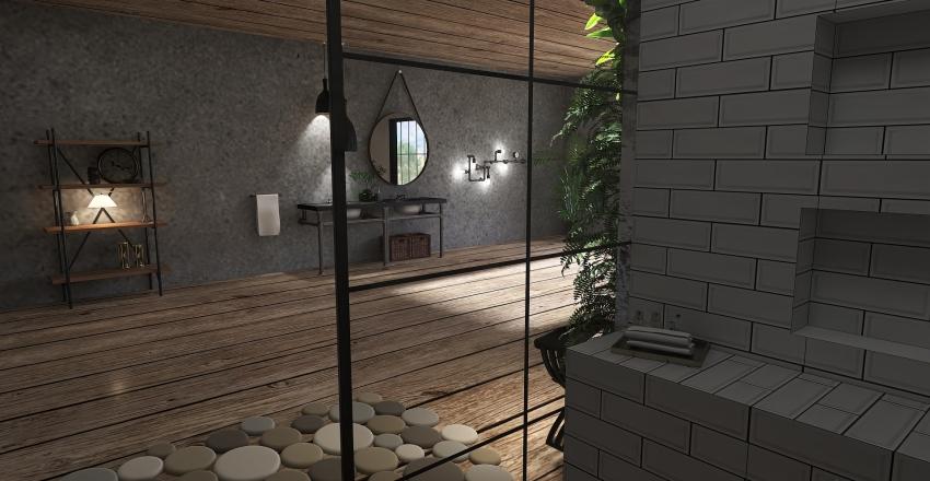 Baño industrial Interior Design Render