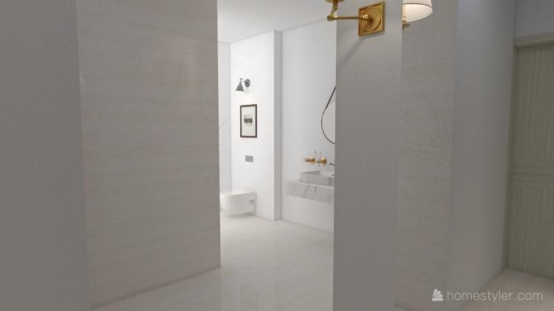 neoclassical/minimalist bedroom Interior Design Render
