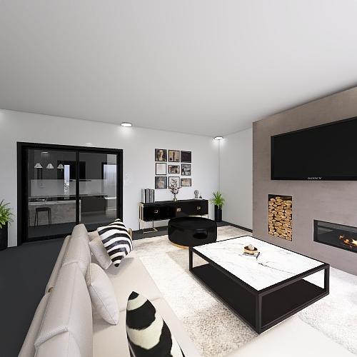 Casa privata moderna Interior Design Render